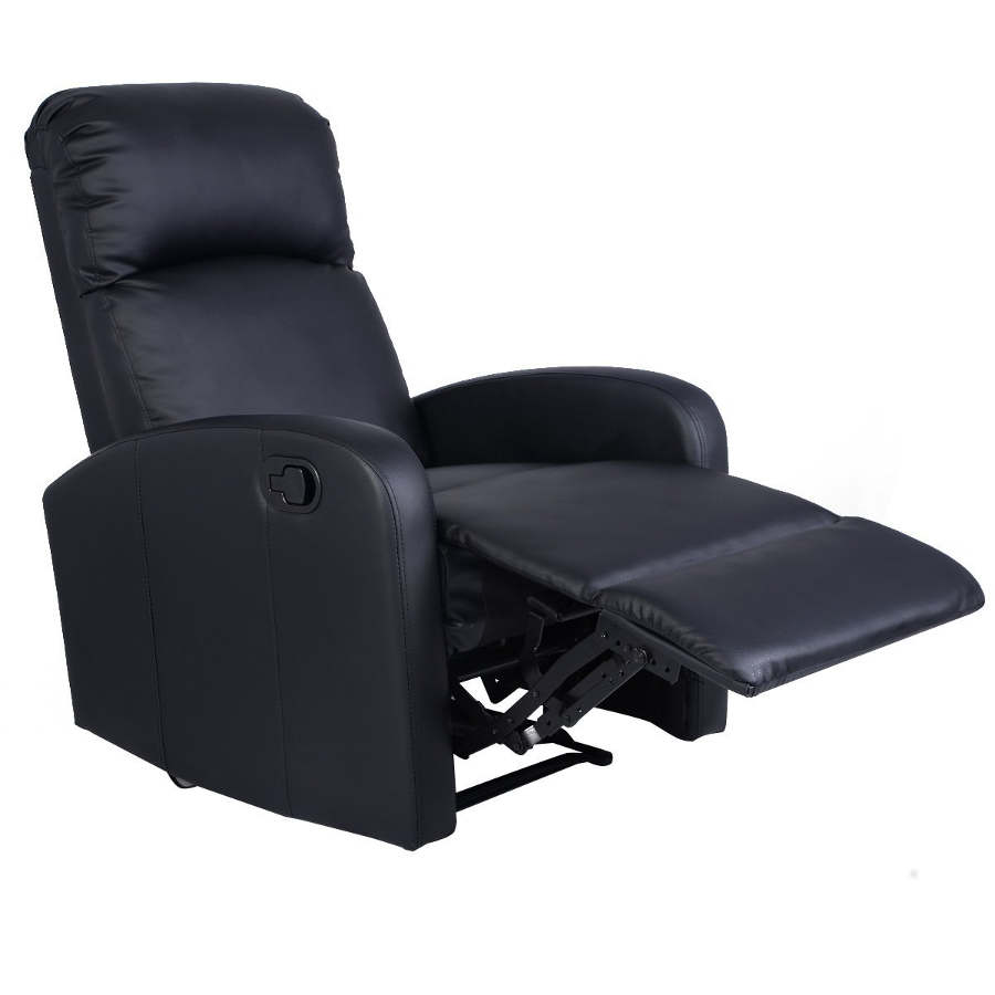 Giantex Manual Recliner Black Lounger Leather Sofa Seat Home Theater  sc 1 st  Laywayback & Best Recliners for Back Pain: 8 Perfect Lumbar Support Chairs! islam-shia.org