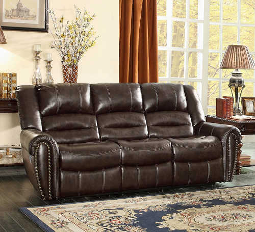 Homelegance 9668BRW - 3 Double Reclining Sofa & Best Recliner Sofas u2013 #1 Buyers Guide for Top 10 Couches islam-shia.org