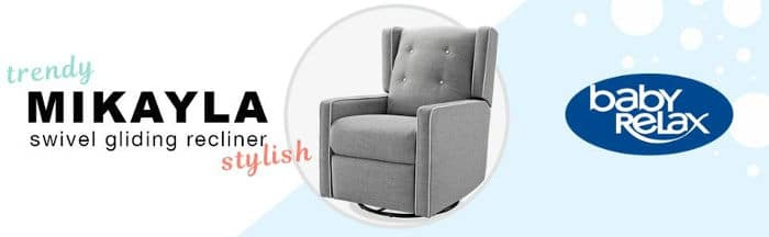 As your hand naturally falls to the side of the recliner the first thing it will touch is the easy-pull mechanism. You can immediately put your legs up and ...  sc 1 st  Laywayback & Baby Relax Mikayla Swivel Gliding Recliner u2013 #1 Review Guide islam-shia.org