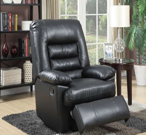 Serta Big u0026 Tall Memo ry Foam Massage Recliner Leather Gray u0026 Black with Deep Soft Body Pillows and Memory Foam in Seat & Recliners for Big and Tall People: Best 8 Chairs in Size and Comfort! islam-shia.org