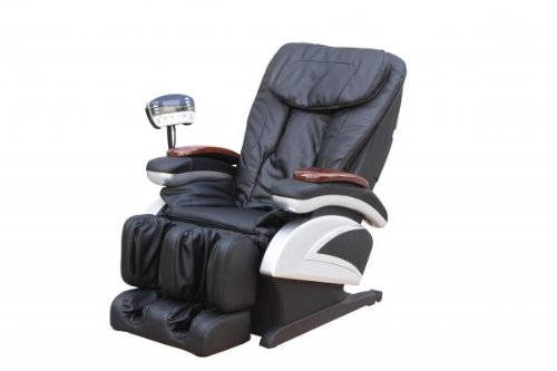 electric full body shiatsu massage recliner with premium stretched footrest