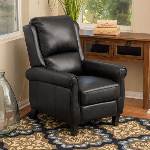 Lloyd Black Leather Recliner Club Chair & Recliners for Short Adults | #1 Source for Perfect Sized Chairs! islam-shia.org