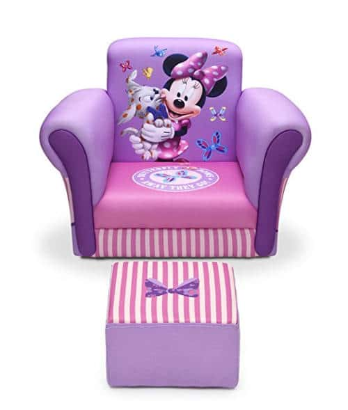 Delta Childrenu0027s Chair with Ottoman - Disney Minnie Mouse  sc 1 st  Laywayback & Minnie Mouse Recliner Reviews | Top 2 Kids Disney Themed Chairs!